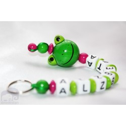 3D Frog Personalised Kids Keyrings