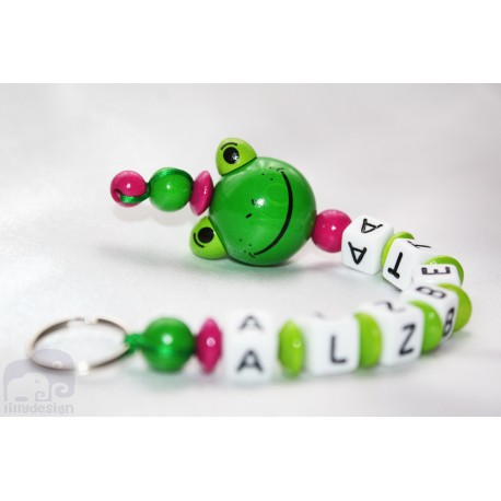 3D Panda Personalised Kids Keyrings