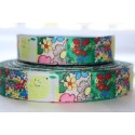 "1 metre 7/8"" Next M2M * MULTI LEMON * Grosgrain Ribbon"