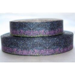 "1 metre 7/8"" Next M2M * PURPLE FLORAL * Grosgrain Ribbon"