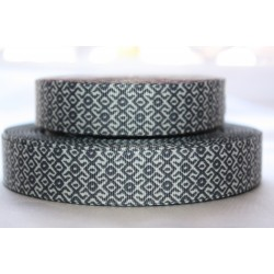 "1 metre 7/8"" Next M2M * GREY COLLAR * Grosgrain Ribbon"