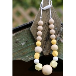 Teething ring Nursing Silicone & Wood Necklace