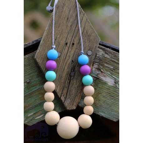 Teething ring Nursing Silicone & Wood Necklace