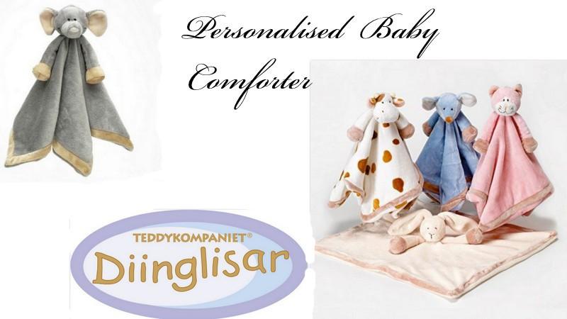Diiglisar, Teddykompaniet , baby comforter, shower gift