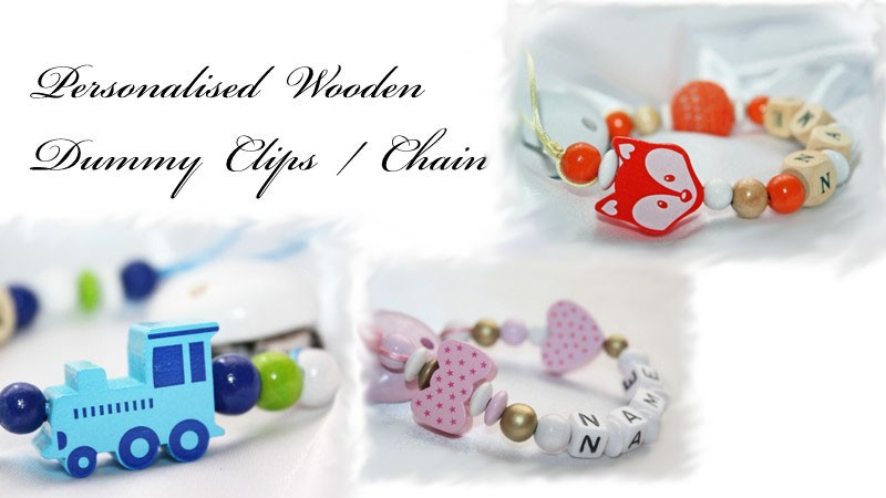 Personalised Wooden Dummy Chain / Strap